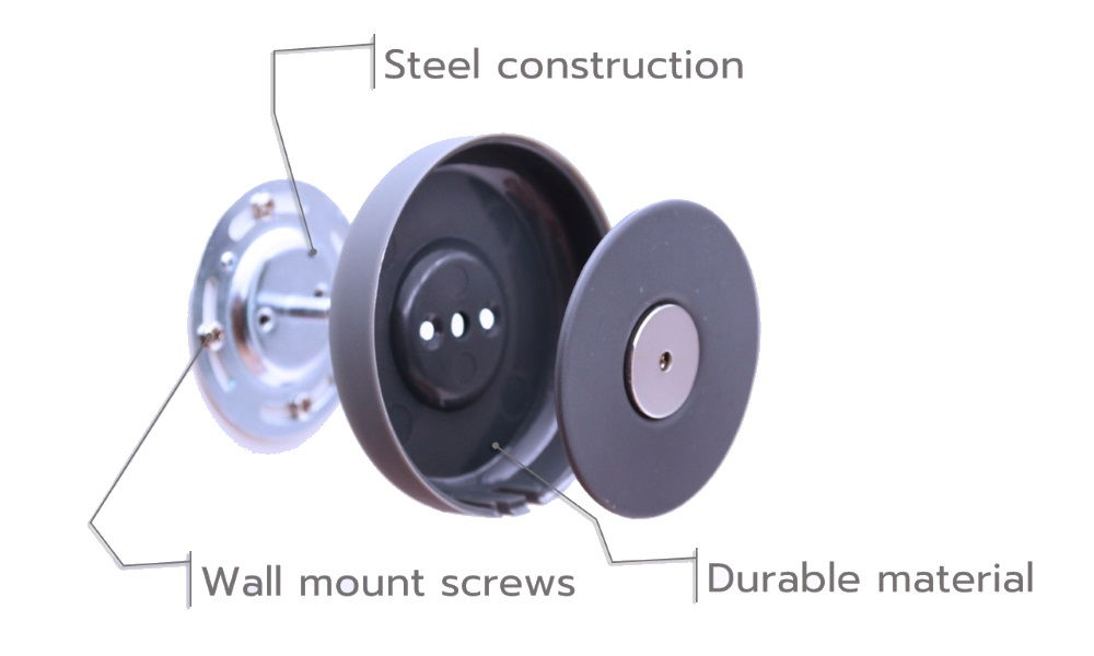 Rivetdot wall mount kit for Amazon Echo Dot with detachable design is durable and easy to install